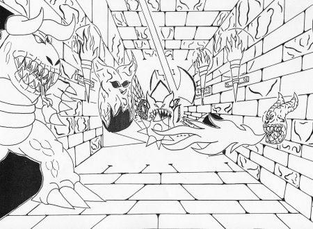 Disegni horror castle 2